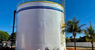 Novo reservatório inaugurado pela Águas de Sorriso conta com capacidade para 2 milhões de litros de água