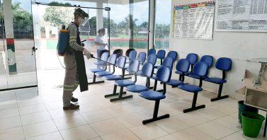 Águas de Matupá realiza desinfecção no Hospital Municipal e unidades básicas de saúde no município